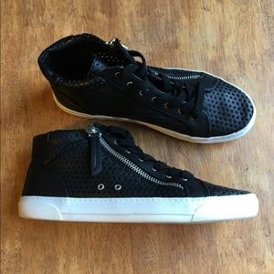Dolce Vita Black Leather Sneakers